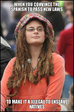 Female College Liberal - Bad Argument Hippie