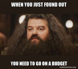 Hagrid - finding out he needs a budget