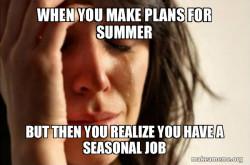 Seasonal Job