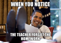 No homework