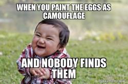 Evil eggs paint