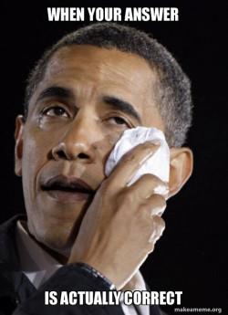 Crying Obama