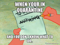 Aye oh quarantine check.
