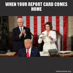 Nancy Pelosi ripping Trump's speech up