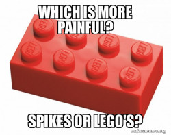 Spikes or Lego's