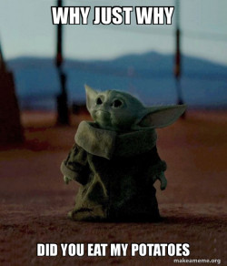 Baby Yoda Potatoes