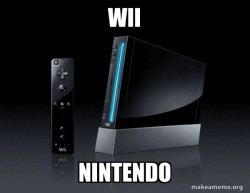 Wii or Nintendo?