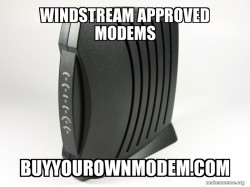 WINDSTREAM APPROVED MODEMS