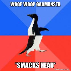 Penguin doing GANGMAN STYLE