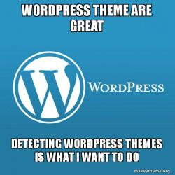 I really want to get a wordpress theme and I should detect it.