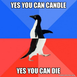 Socially Awkward Awesome Penguin candle