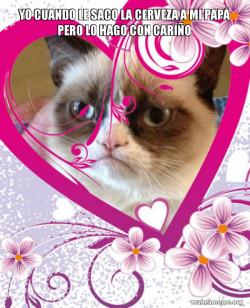 Grumpy cat Valentines Day
