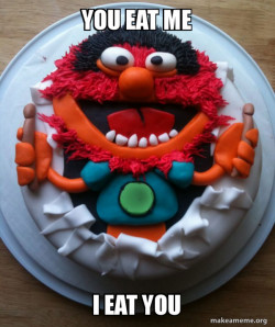Elmo eats me and you
