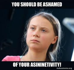 Greta Thunberg asininetivity