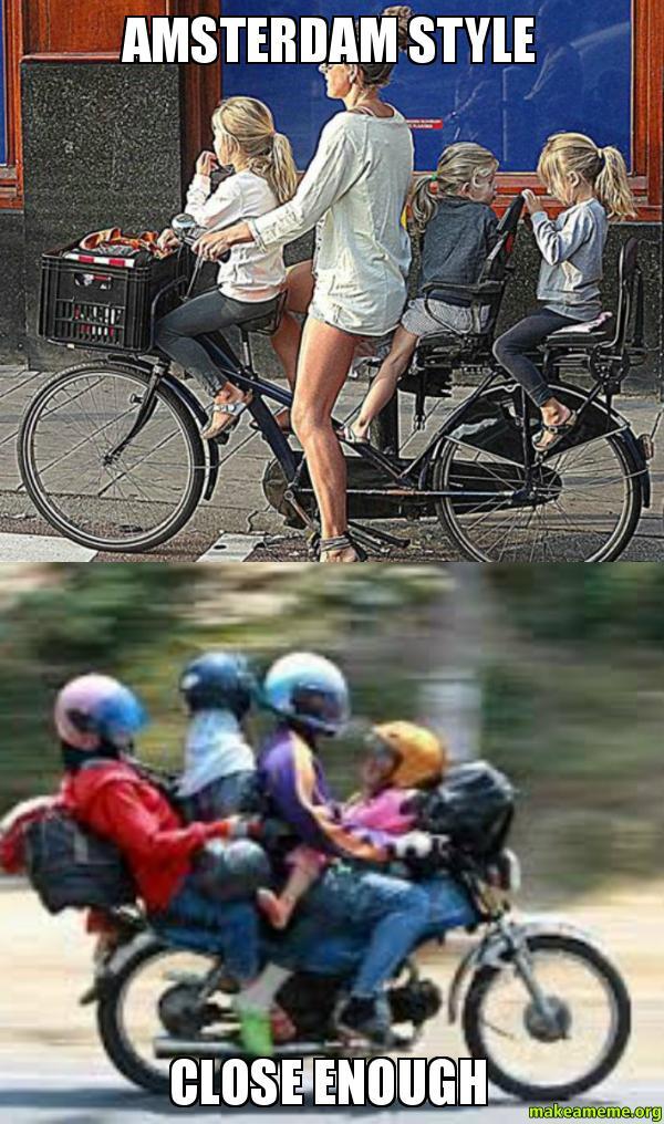 bicycle - Imgflip  Amsterdam Meme