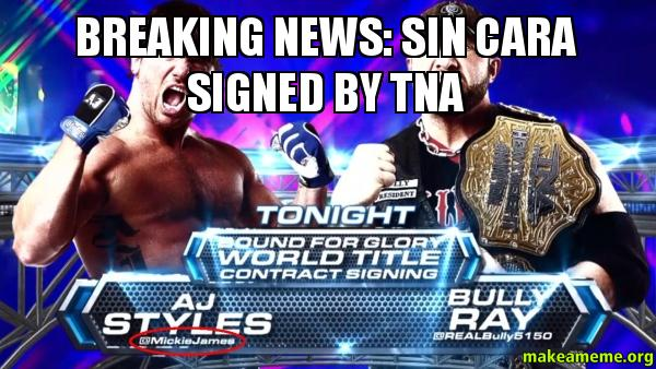 breaking news sin cara signed by tna