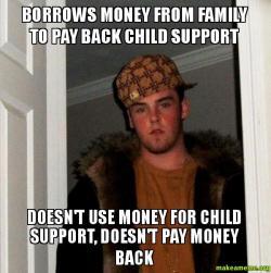 Borrows money from family to pay back child support doesn 39 t use money for child support doesn 39 t - Facily pay oney ...