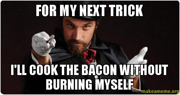 how to cook bacon without burning it