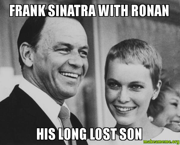Frank Sinatra with frank sinatra with ronan his long lost son make a meme
