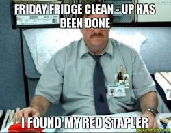 Milton From Office E Meme