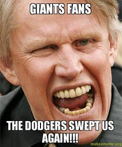 Giants Fans The Dodgers Swept Us Again Sf Giants Fan Make A