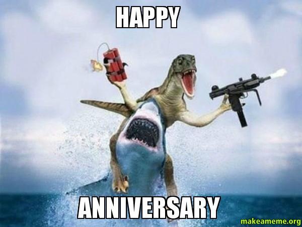 Happy anniversary make a meme