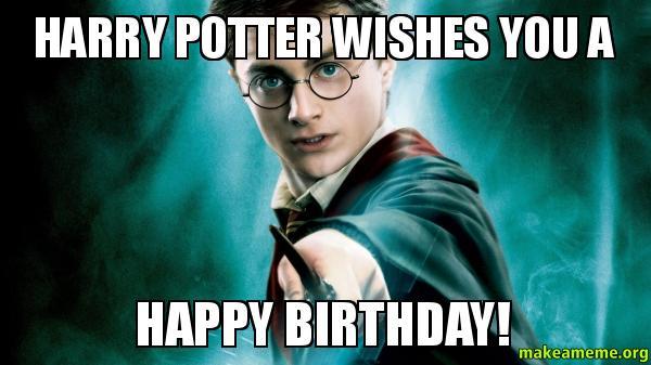 Funny Harry Potter Birthday Meme : Harry potter wishes you a happy birthday make meme