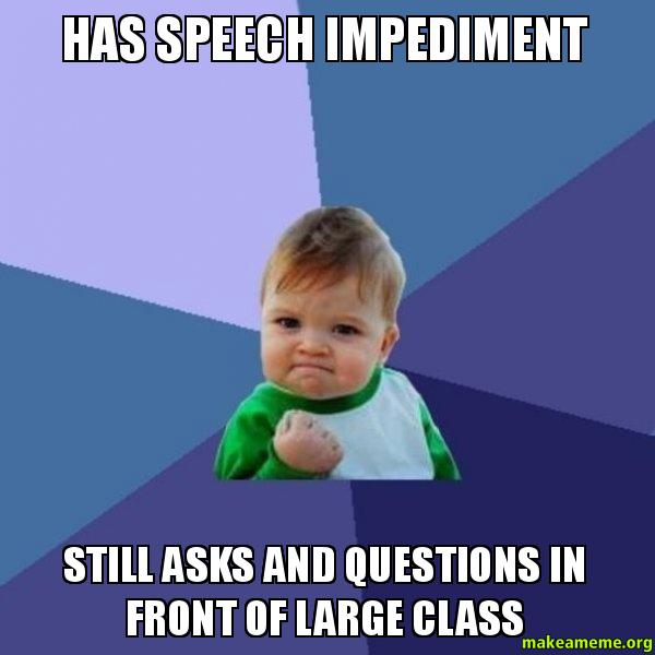 Question about speech class?