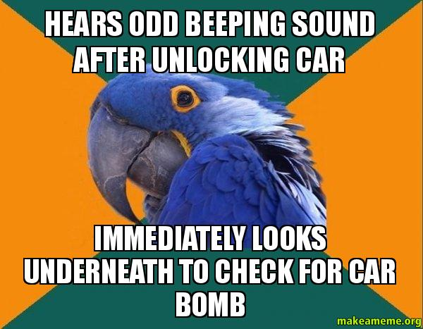 Make Your Own Car >> Hears odd beeping sound after unlocking car immediately looks underneath to check for car bomb ...
