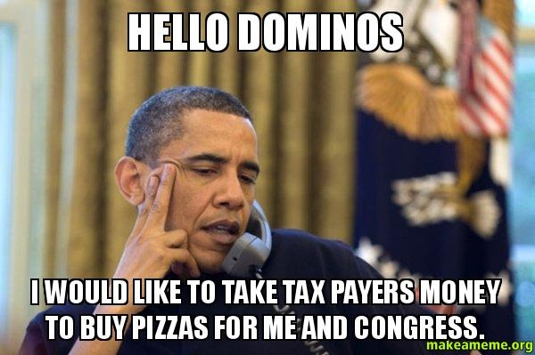 Obama Ordering a Pizza (on the phone) meme