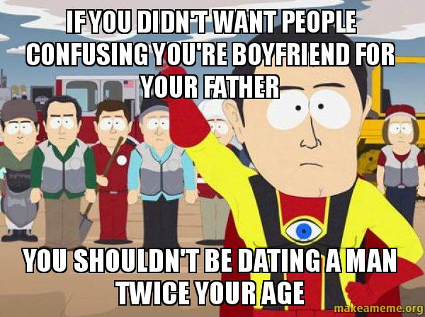Dating a man twice your age