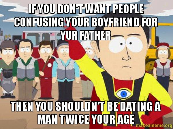 Dating woman twice your age
