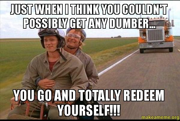 """Image result for totally redeem yourself"""""""