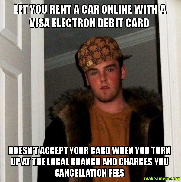 Let You Rent A Car Online With A Visa Electron Debit Card