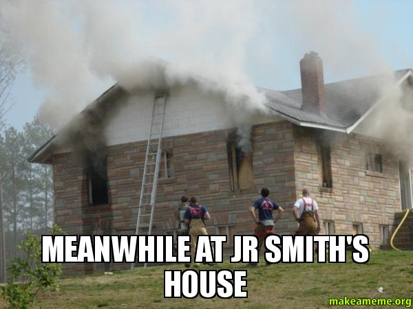 Meanwhile at JR Smith'... Will Smith