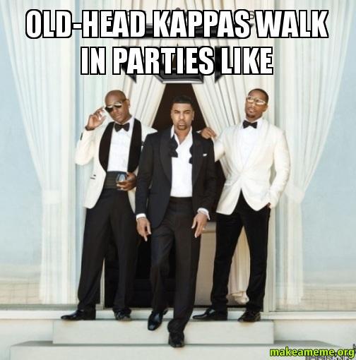 Old Head Kappas Walk In Parties Like Make A Meme