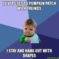 Olivia Goes to Pumpkin patch with freinds I stay and hang ...