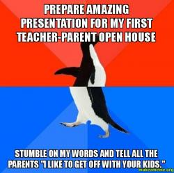 prepare amazing presentation for my first teacher parent open house