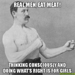 Real Men Eat on eat box