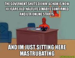 The governent shuts down, 4chan is now 10 years old