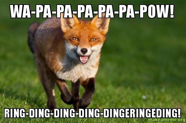 Wapapapapapapow Ringdingdingdingdingeringeding wa pa pa pa pa pa pow! ring ding ding ding dingeringeding! what
