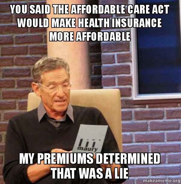 You said the lv30zj you said the affordable care act would make health insurance more