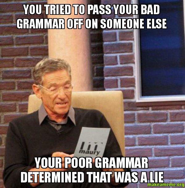 Grammar detector