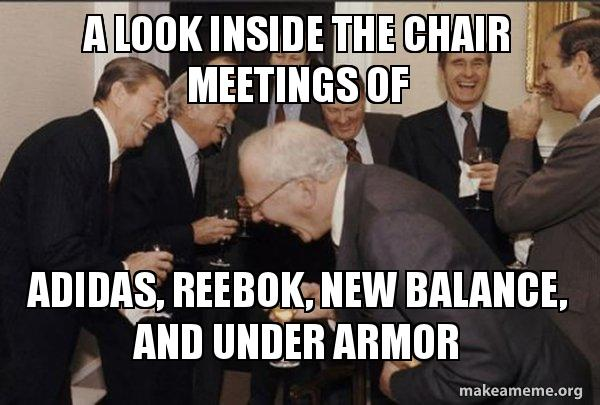 A look inside the chair meetings of Adidas, Reebok, New