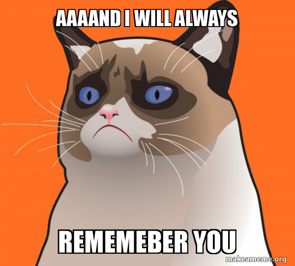 Cartoon Grumpy Cat meme