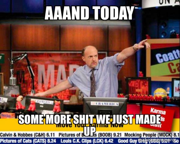 Mad Karma with Jim Cramer meme