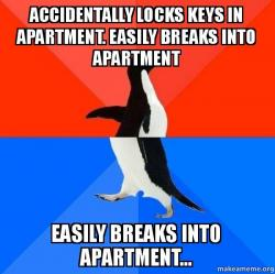 Socially Awesome Awkward Penguin meme