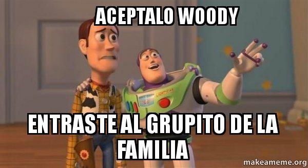 aceptalo woody entraste al grupito de la familia - Buzz and Woody (Toy ...