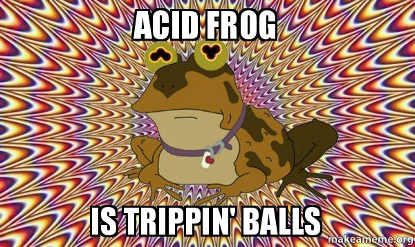 ACID FROG IS TRIPPIN' BALLS - Hypnotoad | Make a Meme