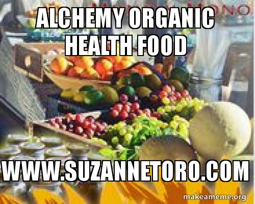 Alchemy Organic Health Food Www Suzannetoro Com Alchemy Organic Health Food Make A Meme